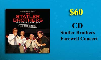 Statler Brothers Farewell Concert CD